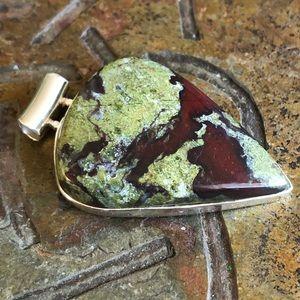Jewelry - Dragons Blood Jasper Sterling Silver Pendant